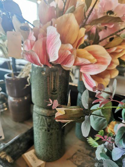 ваза керамика ручной работы зелёная