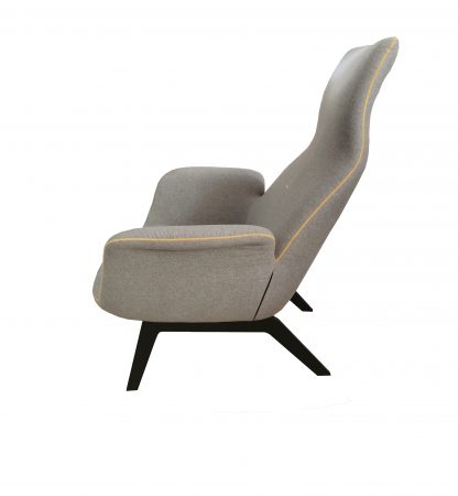 кресло модерн серое