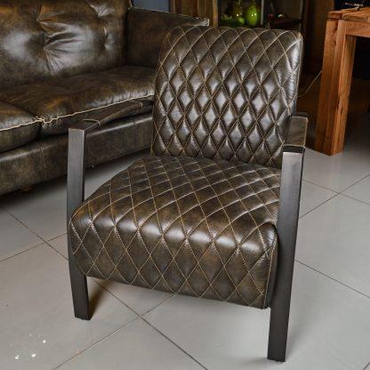 Кресло кожаное лофт арт. C0101-1D