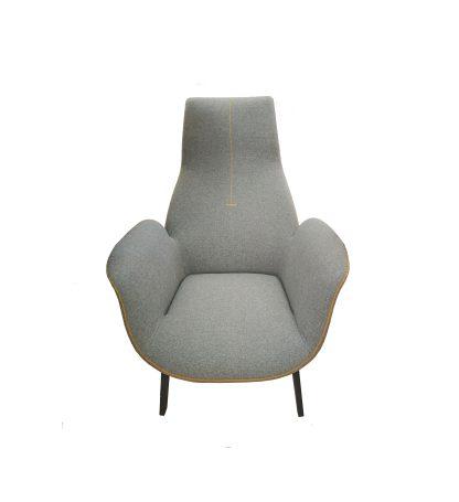 Кресло серое дизайнерское арт.HA578g