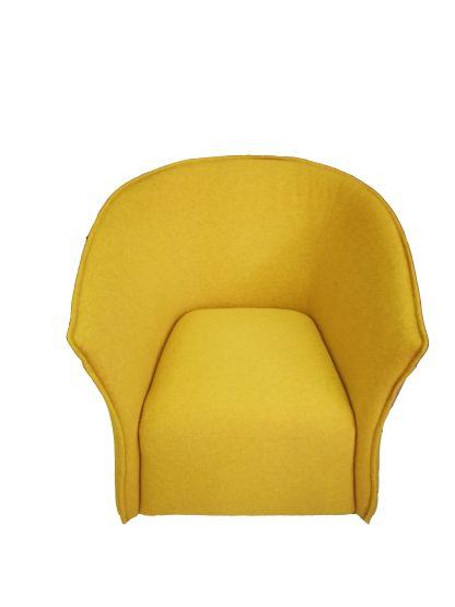 Кресло модерн жёлтое