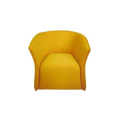 кресло модерн желтое