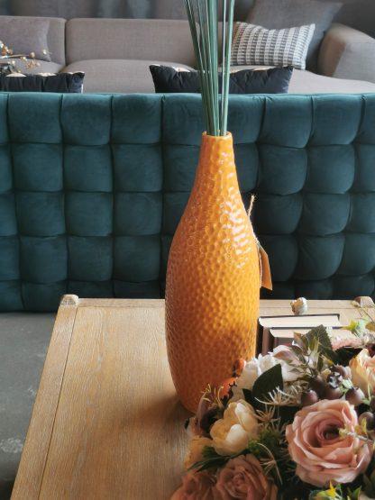 ваза керамическая ручной работы оранжевая