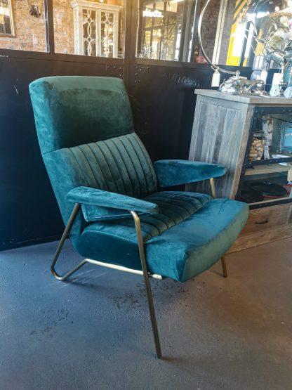 кресло зелёный велюр модерн