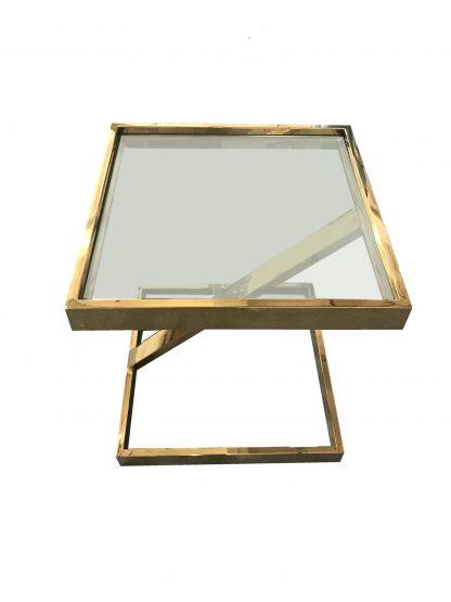 столик приставной золотой Ар-деко