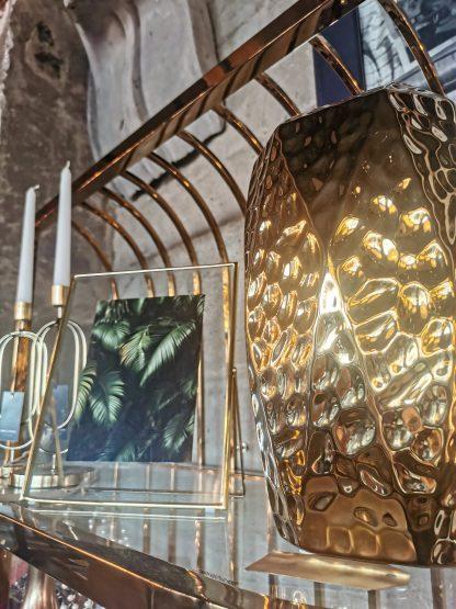 ваза золотая керамическая